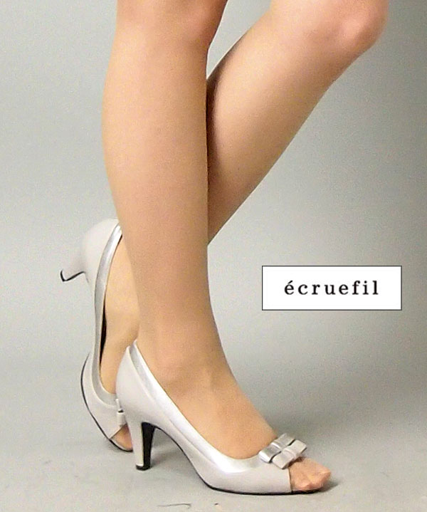 【レンタル】レンタル シューズ【パンプスレンタル|シルバーグレー24.0cm(L)】ecruefil エクリュフィルネット レンタル 結婚式 靴 サンダル 【RCP】 fy16REN07