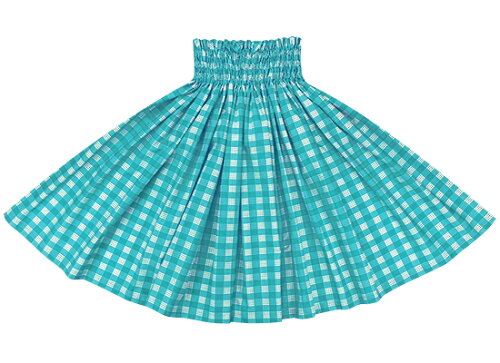 水色のパウスカート パラカ柄 spau-2028aq フラダンス衣装 パラカパウ ...