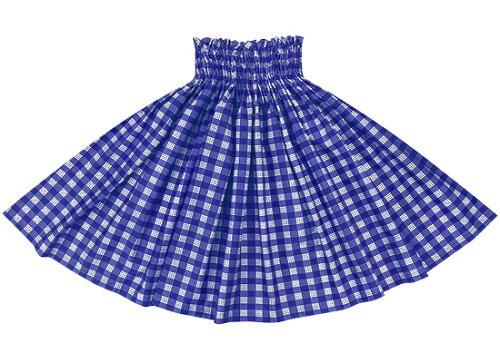 青のパウスカート パラカ柄 spau-2028bl フラダンス衣装 パラカパウ チ...