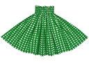 緑のパウスカート パラカ柄 spau-2028gn 【丈とゴム本数が選べる】 フラダンス衣装 パラカパウ チェック プリント グリーン