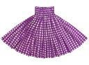 紫のパウスカート パラカ柄 spau-2028pp 【丈とゴム本数が選べる】 フラダンス衣装 パラカパウ チェック プリント パープル