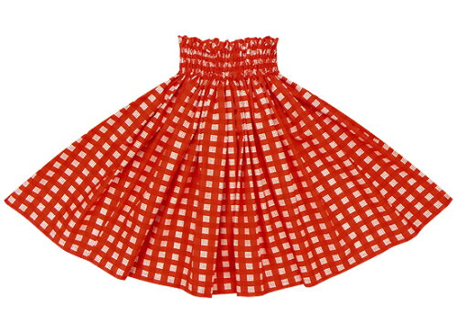 赤のパウスカート パラカ柄 spau-2028rd フラダンス衣装 パラカパウ チ...