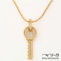 【MS-13】K18GPパヴェキーネックレスゴールド(ゴールド)