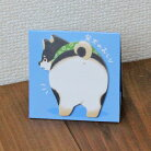 【スタンドスティックマーカー】柴犬(黒柴)のおしり2(スタンド付箋)【メモ帳犬雑貨キュート】