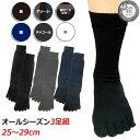 5本指ソックス メンズ 靴下 Ag銀イオン糸の 消臭 抗菌 五本指靴下 3足セット 【大きめサイズ2 ...