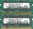 hynix PC2-6400S (DDR2-800) 2GB x 2枚組み 合計4GB【中古】