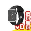【送料無料】当社1ヶ月間保証[中古Cランク]■Apple Apple Watch 42mm (MJ3U2J/A) 【ステンレススチール/ブラックスポーツバンド】【周辺機器】中古【中古】 【 中古スマホとタブレット販売のイオシス 】