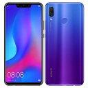 SIMフリー 未使用 Huawei nova3 PAR-LX9 Iris Purple【国内版 SIMフリー】【当社6ヶ月保証】 スマホ 中古 本体 送料無料【中古】 【 中古スマホとタブレット販売のイオシス 】