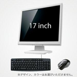 ノーブランド【デスクトップPC専用オプション】17インチ液晶+キーボード+マウスセット【単品販売不可】