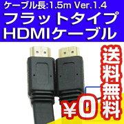 CYBERPARKLimited【Ver1.4、1.5m】きしめんHDMIケーブル黒色