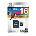 microSDHC SP016GBSTH010V10-SP(16GB・Class10・アダプター付・シリコンパワー永久保証)