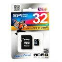 microSDHC SP032GBSTH010V10-SP(32GB・Class10・SDアダプタ付・シリコンパワー永久保証)