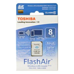 FlashAir SD-R008GR7AL01(東芝・8GB・カメラからSDを取り出さずに無線でPC等に転送!日本製)