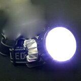 37灯LEDヘッドライト(3パターン点灯&点滅の高輝度ライト・防滴タイプ・単4電池×3本で動作)