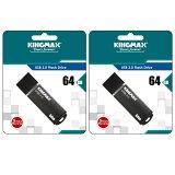 KINGMAX5年保証!64GB【USBメモリKM64GMB03B x2点】USB3.0対応・キャップ付