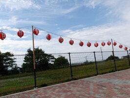 祭り用ちょうちん電気コード30灯ソケット陶器製防水ゴム付き、23w電球も付属65cm間隔