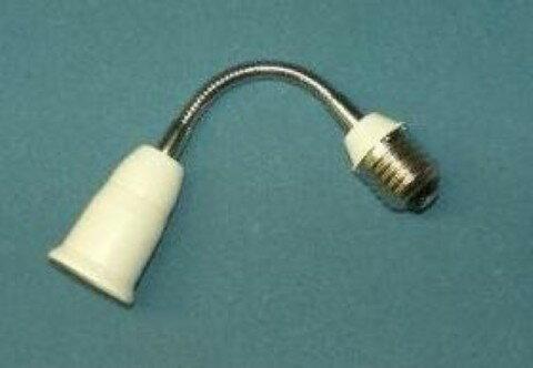 口金変換アダプターE26からE26のフレキシブル延長,完全検査品