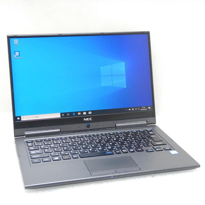 【中古 Bランク】 NEC 2in1 タブレットPC LAVIE Direct HZ[Hybrid ZERO] PC-GN276U1GA 第7世代 i7(7500U)2.7GHz 8GB SSD256GB 13.3インチ(1920×1080) タッチパネル搭載 Win10Pro メテオグレー