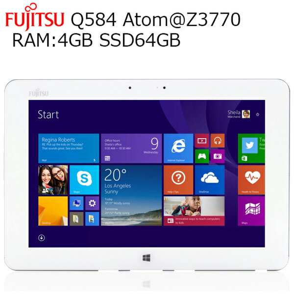 安心日本製タブレット富士通ArrowsTabQ58410.1型2K解像度(2560x1600)RAM:4GBSSD:64GBタッ