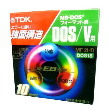 TDK MF2HD-BMX10PN DOS/V用 2HD 3.5型FD 10枚入 黒 【4902030051969】