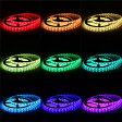【送料無料】イルミネーション LEDテープライト 5M 150連 SMD5050 5M/150LED  5M/300LEDテープ型 正面発光 RGB リモコン操作 カラー選択可能 切断可能