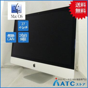 【中古デスクトップパソコン】Apple/iMac/ME089J/A/Core i5 3.4G/HDD 1TB/メモリ 16GB/27インチ/Mac OS 10.10【良】