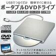 【送料無料】USB2.0 スリム DVDドライブ スロットイン 外付け パソコン用DVDプレーヤー DVD RW CD 高速24X 読み書き対応 TEC-RINGODRIVED