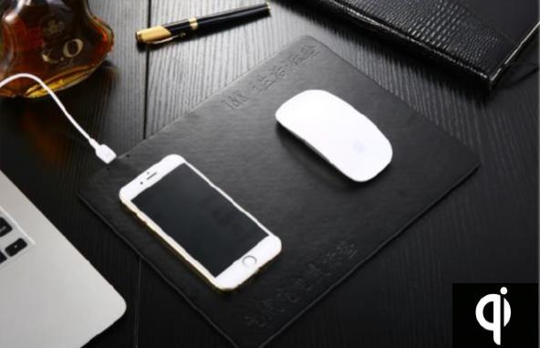 マウスパッド一体型ワイヤレスチャージャー充電器Qi規格対応充電おしゃれdar-qi02padiPhoneXR/XS/XSMax/