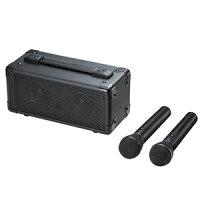 z【送料無料】サンワサプライSANWA拡声器スピーカーワイヤレスマイク2本付き・電池・AC電源両対応・収納バッグ付きMM-SPAMP7