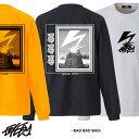 大きいサイズ メンズ ロングTシャツ BAD BAD BAD ロンT ロゴ 長袖 M L XL XXL Tシャツ ロンティー 長袖Tシャツ デザイン プリント Tシャツ 半袖 かっこいい おしゃれ 人気 安い ブランド ビッグサイズ ストリート系 アメカジ