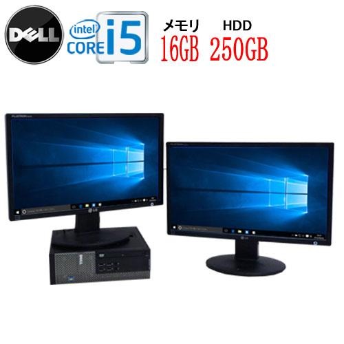 パソコン, デスクトップPC 22 (2) DELL 7010SF Core i5 3470 3.2GHz 16GB HDD250GB DVD-ROM Windows10 Home 64bit USB3.0 0199d-3R