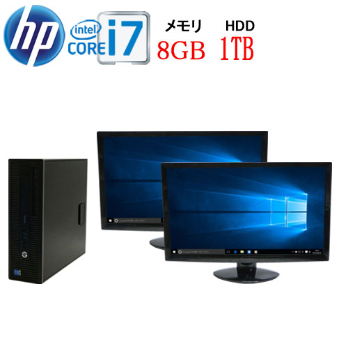 パソコン, デスクトップPC HP 600 G1 SF Core i7 4790 2 HD 23 8GB HDD1TB DVD Windows10 Pro 64bit WPS Office USB3.0 1658d2-mar-R