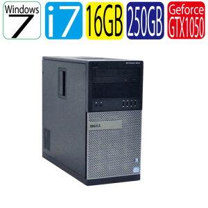 【最強ゲーム仕様Grade風】DELLOptiplex7010MT(Corei7-3770)(メモリ16GB)(HDD250GB)(DVD-Multi)(GeforceGTX1050)(64BitWin7Pro)【ゲーミングpc】02P23Apr16