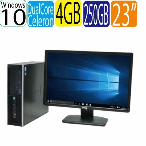 パソコン, デスクトップPC HP 6300SF Celeron Dual-Core G1610 2.60GHz 4GB HDD250GB DVD Windows10 Home 64bit MAR WPSOffice USB3.0 HD 23 0592sR
