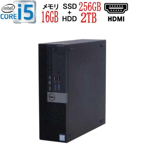 第6世代DELLOptiplex5040SFCorei56500メモリ16GB高速新品M.2NvmePCIeSSD256GB+H
