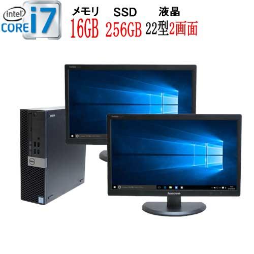 パソコン, デスクトップPC 2 22 6 DELL Optiplex 7040SF Core i7 6700 3.4GHz 16GB M.2 Nvme SSD250GB DVD Windows10 Pro 64bit USB3.0 HDMI R-dm-072