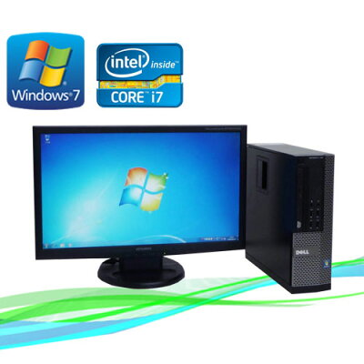 Core-i搭載中古PC(R-dtb-416)中古パソコン DELL 7010SF 20ワイド液晶(Corei7-3770(3.4GHz) (メ...