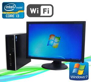 中古パソコン無線LAN対応HP8200EliteSFF/24型ワイド液晶(Corei3-2100-3.1GHz)(メモリ4GB)(DVDマルチ)(64BitWindows7Pro)(dtb-448)【中古】【中古パソコン】10P20Nov15