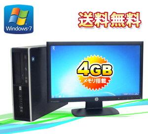 中古パソコンメモリー4GBHP6000ProSFF20ワイド液晶モニター(Core2DuoE7500-2.93GHz)(64BitWindows7Pro)(R-dtb-373)【中古】【中古パソコン】10P23Sep15【smtb-k】