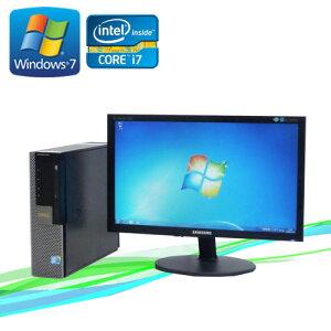 中古パソコンDELL990SF20ワイド液晶(Corei7-2600(3.4GHz)(メモリー4GB)(DVDマルチ)(64BitWindows7Pro)(dtb-387)【中古】【中古パソコン】10P23Sep15【smtb-k】