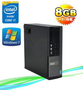 中古パソコンDELL9020SF/モニタレス(Corei74770(3.4GHz)(メモリー8GB)(DVDマルチ)(1TB)(64BitWindows7Pro)