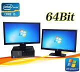 中古パソコン DELL Optiplex 7010SF 20ワイド型デュアルモニター Core i5 3470 3.2GHzメモリー4GBDVDマルチWin7 Pro64Bit /R-dm-077 /USB3.0対応 /中古