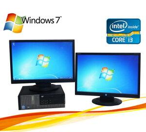 中古パソコンCorei3搭載!メモリー2GBDVD-ROMDELL790SF(Corei321003.1GHz)(19型ワイド液晶×2)マルチモニター【中古】02P01Mar16【中古パソコン】