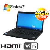 中古パソコン Lenovo ThinkPad Edge E530c Celeron 1.9GHz 4GB 320GB DVDRWマルチ 無線LAN テンキ-あり 15.6型 Windows7Pro32bit /ノートパソコン/R-na-140-7/中古
