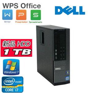中古パソコンキングソフトオフィスDELL7010SF(Corei73770(3.4GHz)(メモリー4GB)(新品1TB)(DVDマルチ)(64BitWindows7Pro)【中古】P20Feb16【中古パソコン】