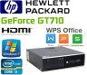 中古パソコン HDMI内蔵GeForce GT710 Windows7 Pro 32Bit Core i3 2100 メモリ2GB DVDマルチ HDD250GB HP 8200 Elite SFF Office_WPS2017 /R-d-293-3/中古