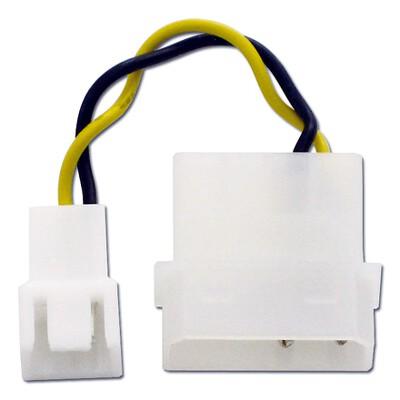 アイネックス CA-09A ファン用電源変換ケーブル ケースファンの接続先をマザーボードから電源ユニットに変更します