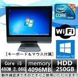 中古パソコン【Windows 10】NEC一体型PC MG-C Core i5 480M 2.66G/4G/250GB/DVD-ROM/無線有/19インチ