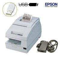 EPSONレシート/スリッププリンタ(USBタイプ)TM-H6000iii電源ユニット・ACケーブル付【送料無料】【コレクト手数料無料】