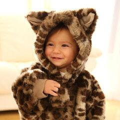 ふわふわ子猫の着ぐるみ(ベビー ジャンプスーツ)(赤ちゃん 着ぐるみ)(お出かけベビー服...